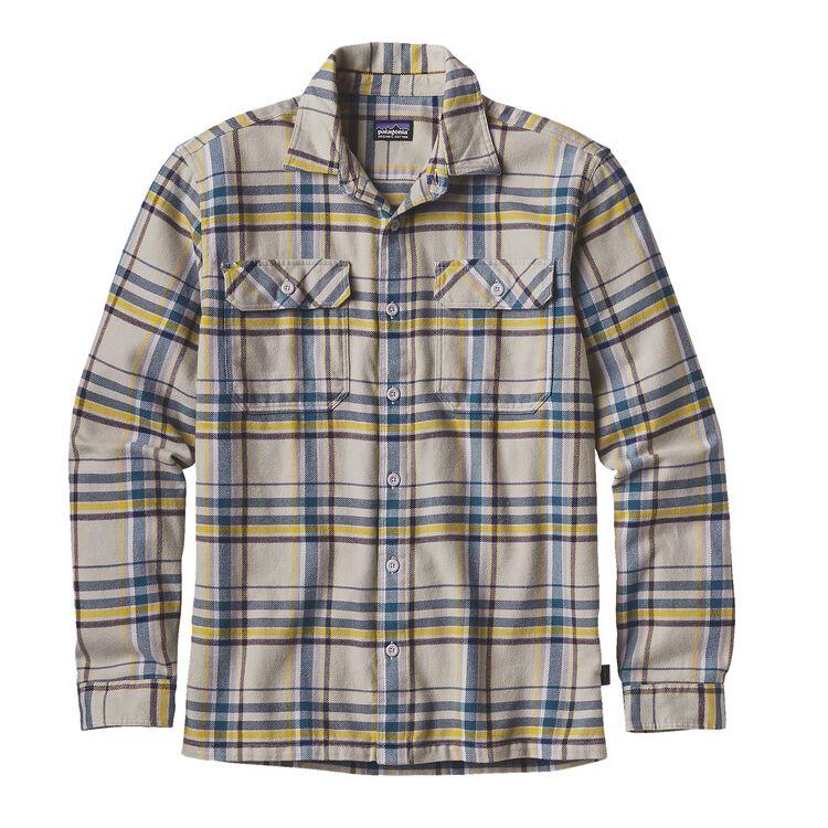 メンズ・ロングスリーブ・フィヨルド・フランネル・シャツ(アジア・フィット), Blue Ox: Tailored Grey (BOTA)