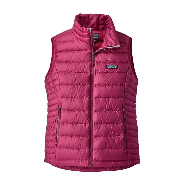 W'S DOWN SWEATER VEST, Magenta (MAG)