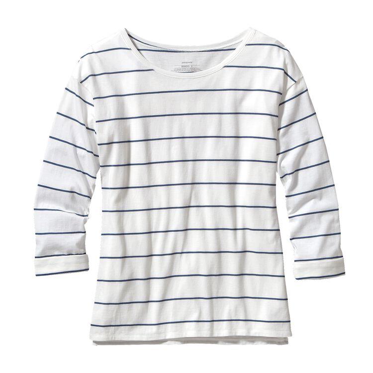ウィメンズ・シャロウ・シーズ・トップ, Congo Stripe: White (CGWH-716)