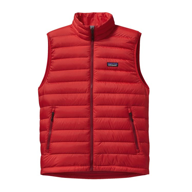 M'S DOWN SWEATER VEST, French Red (FRR)