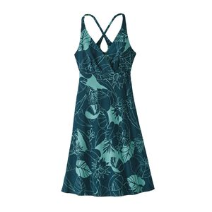 W's Amber Dawn Dress, Valley Flora: Tidal Teal (VFTT)