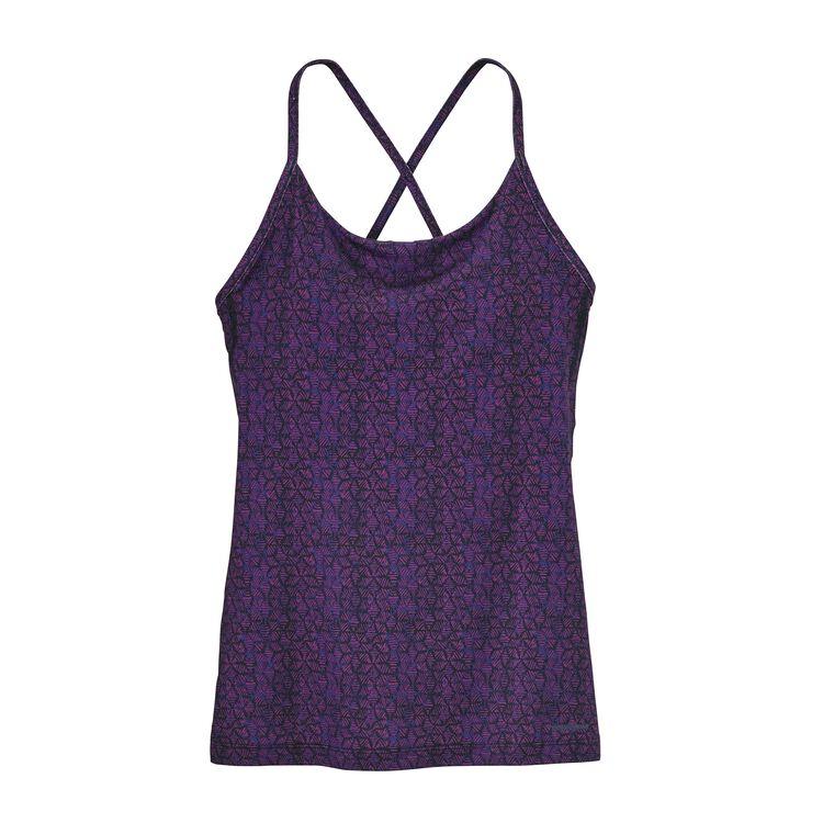 W'S CROSS BETA TANK, Batik Hex Micro: Ikat Purple (BKIP)