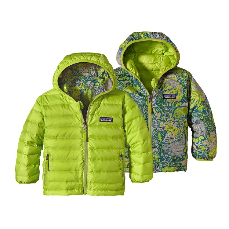 BABY REVERSIBLE DOWN SWEATER HOODY, Peppergrass Green (PSS)