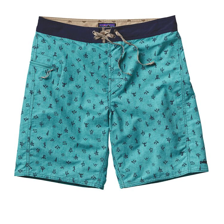 M'S PRINTED WAVEFARER BOARD SHORTS - 19, Scorpo: Howling Turquoise (SCPT)