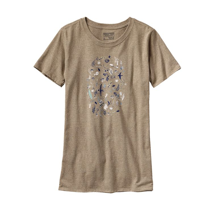 W'S SEA DOODLE RECYCLED COTTON/POLY RESP, Woodland Tan (WOT)