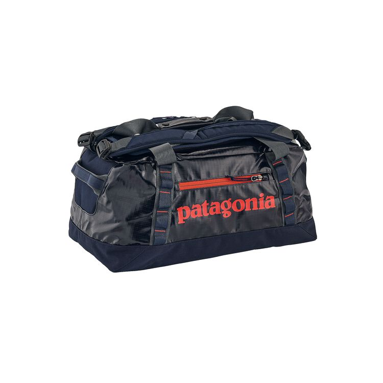 BLACK HOLE DUFFEL 45L, Navy Blue w/Paintbrush Red (NPTR)