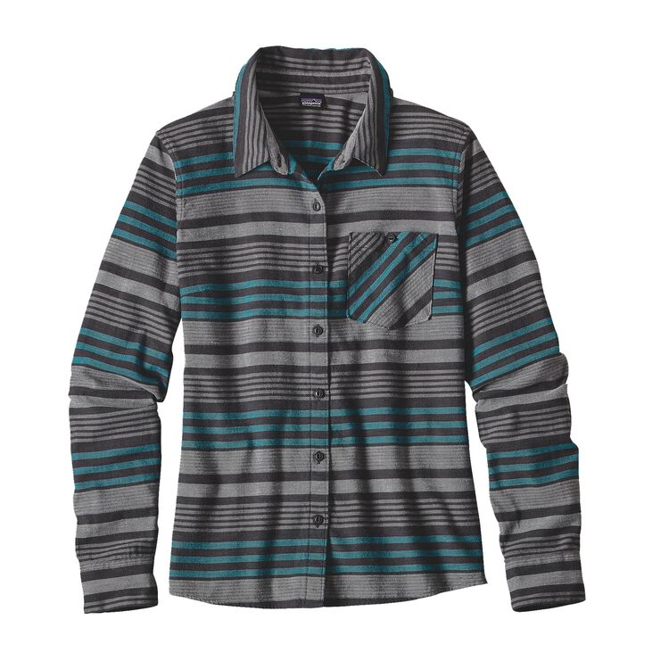 W'S HEYWOOD FLANNEL SHIRT, Pinyon Stripe: Black (PSBK)