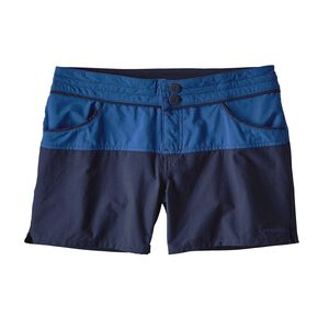 ウィメンズ・カラーブロック・ストレッチ・ウェーブフェアラー・ショーツ(股下10cm), Superior Blue (SPRB)