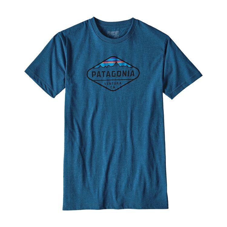 メンズ・フィッツロイ・クレスト・コットン/ポリ・Tシャツ, Big Sur Blue (BSRB)