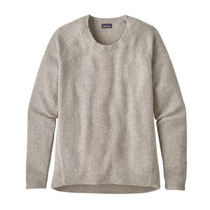 W'S RECYCLED CASHMERE CREW, Birch White (BCW)