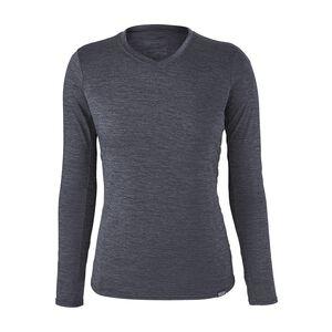 ウィメンズ・キャプリーン・ロングスリーブ・デイリー・Tシャツ, Smolder Blue - Navy Blue X-Dye (SMNX)