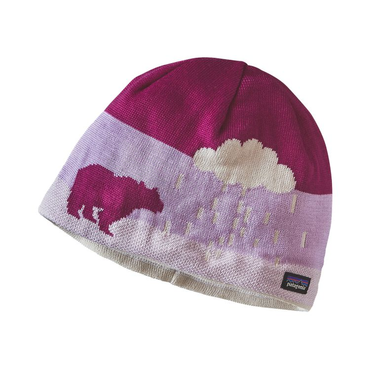 K'S BEANIE HAT, Arctic Snow: Violet Red (ACVR)