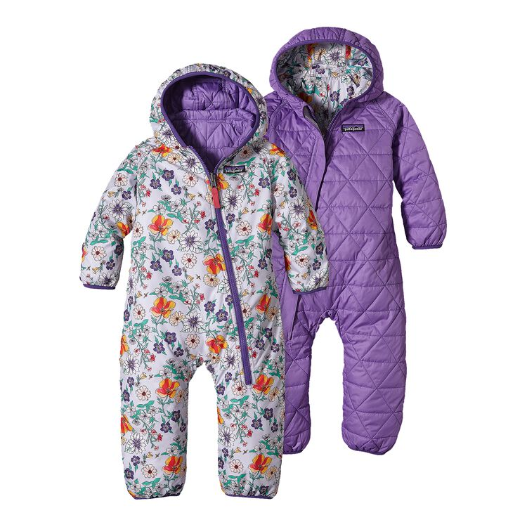 INFANT REVERSIBLE PUFF-BALL BUNTING, Native Bloom: Tundra Purple (NVTP)