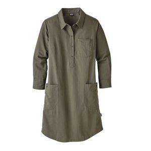 ウィメンズ・ロッキー・ピーク・シャツ・ドレス, Chambray: Industrial Green (CMIG)