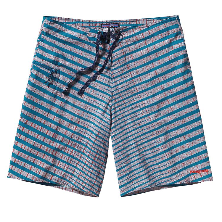 M'S PLANING STRETCH BOARD SHORTS - 20 IN, Fin Zig: Underwater Blue (FZUW)