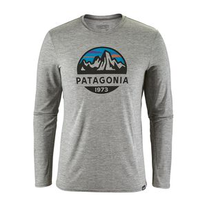 M's Capilene® Daily Long-Sleeved Graphic T-Shirt, Fitz Roy Scope: Feather Grey (FZSE)