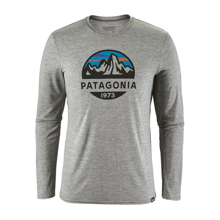 M'S CAP DAILY L/S GRAPHIC T-SHIRT, Fitz Roy Scope: Feather Grey (FZSE)