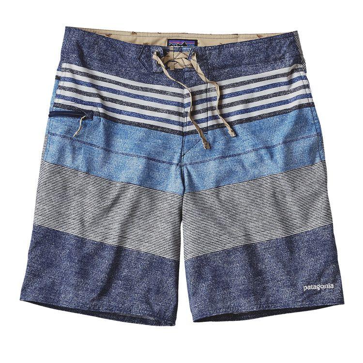 メンズ・プリンテッド・ストレッチ・プレーニング・ボード・ショーツ(51cm), Textured Fitz Stripe: Channel Blue (TXCB)