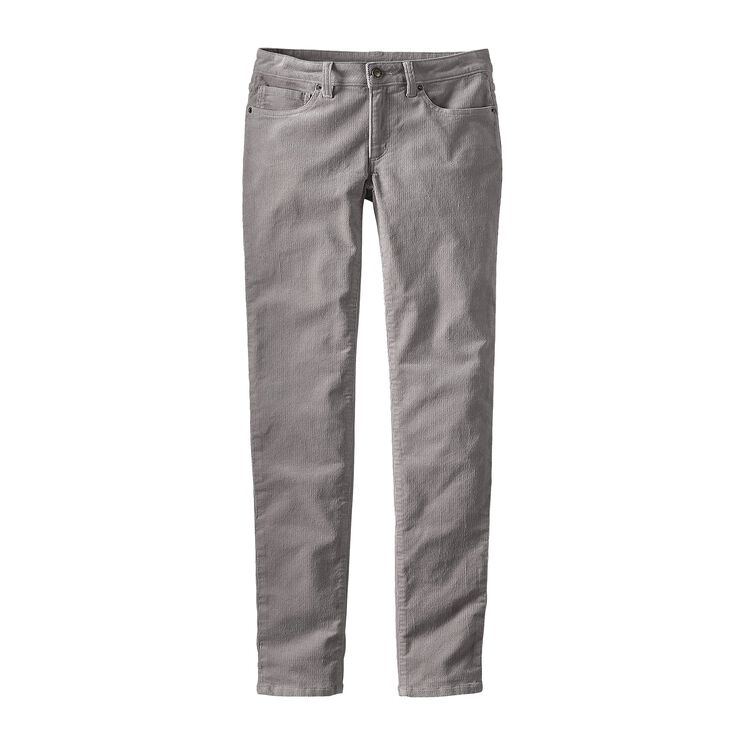 W'S FITTED CORDUROY PANTS, Drifter Grey (DFTG)
