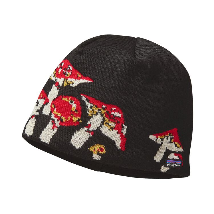 LINED BEANIE, Mushroom Forest: French Red (MFFR)