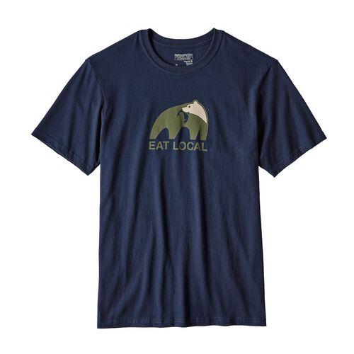 メンズ・イート・ローカル・アップストリーム・コットン・Tシャツ, Navy Blue (NVYB)