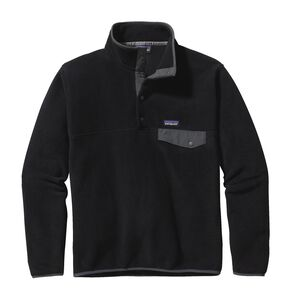 M's Lightweight Synchilla® Snap-T® Pullover - European Fit, Black w/Forge Grey (BFO)