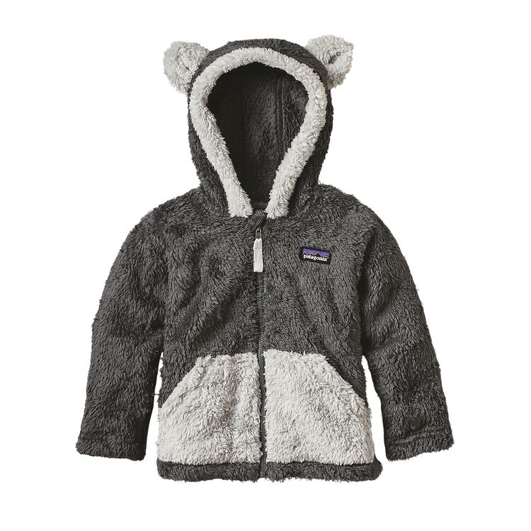 BABY FURRY FRIENDS HOODY, Forge Grey (FGE)