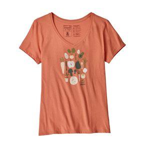 W's Harvest Haul Organic V-Neck T-Shirt, Quartz Coral (QZCO)