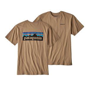 メンズ・P-6ロゴ・コットン・Tシャツ, Mojave Khaki (MJVK)