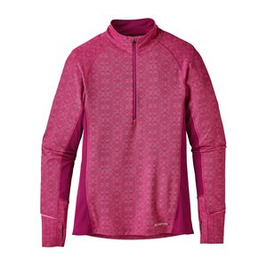 W's All Weather Zip-Neck, Fin Geo: Magenta (FGMG)
