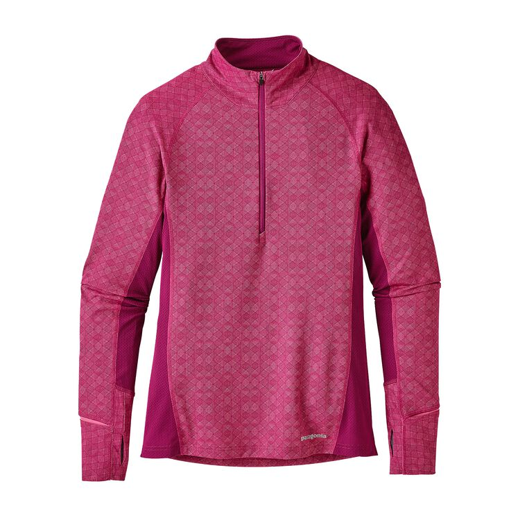 W'S ALL WEATHER ZIP NECK, Fin Geo: Magenta (FGMG)