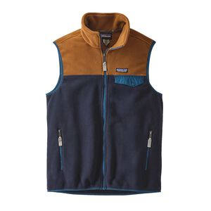 M's Lightweight Synchilla® Snap-T® Vest, Navy Blue w/Bear Brown (NVBB)