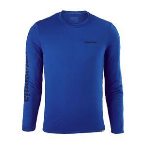 メンズ・キャプリーン・デイリー・ロングスリーブ・グラフィック・Tシャツ, Text Logo: Viking Blue (TXVK)
