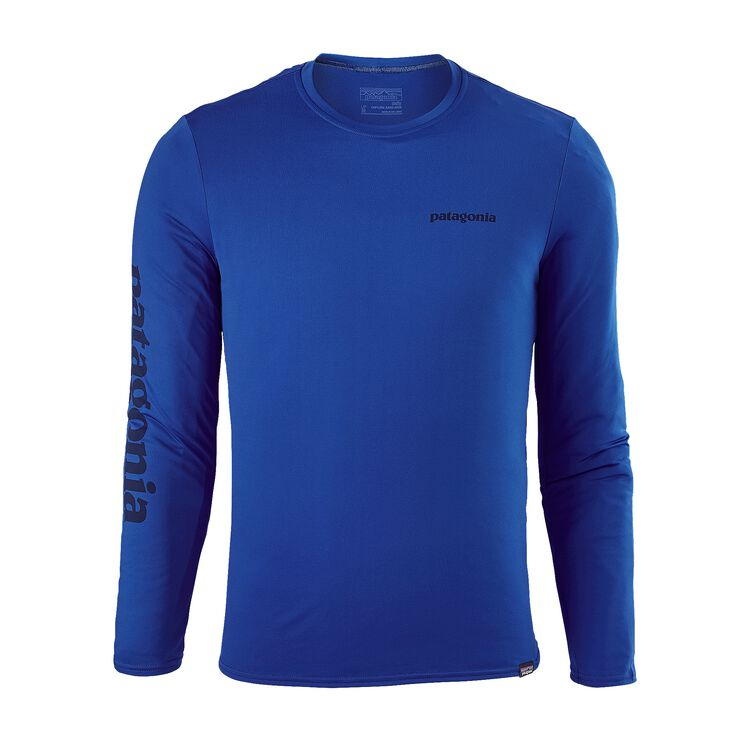 M'S CAP DAILY L/S GRAPHIC T-SHIRT, Text Logo: Viking Blue (TXVK)