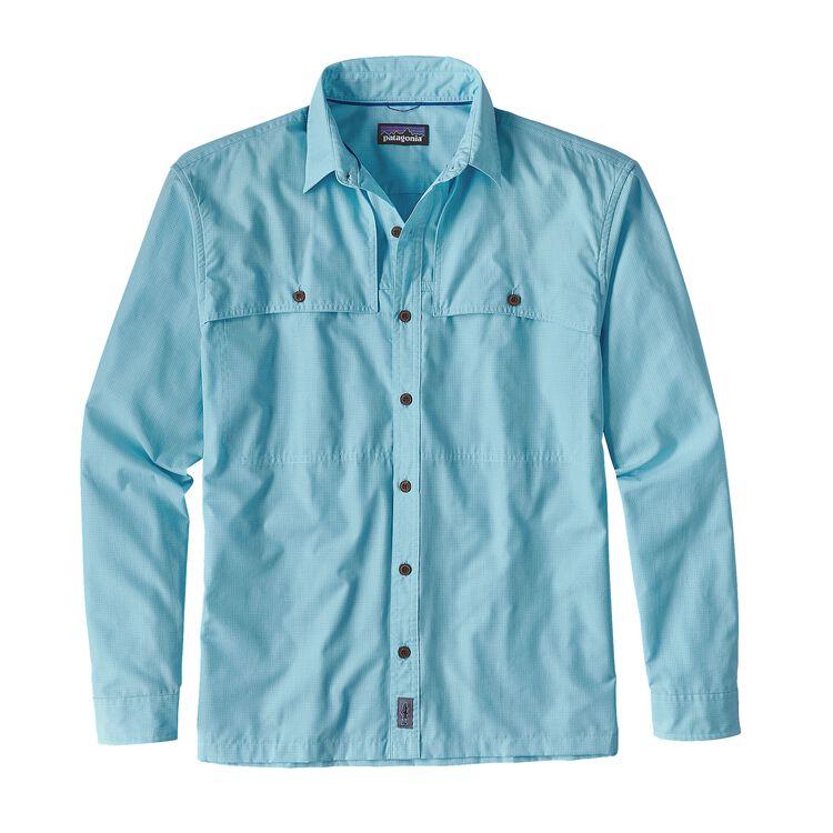 メンズ・ロングスリーブ・アイランド・ホッパーII・シャツ, Seven Seas: Cuban Blue (SEVC)