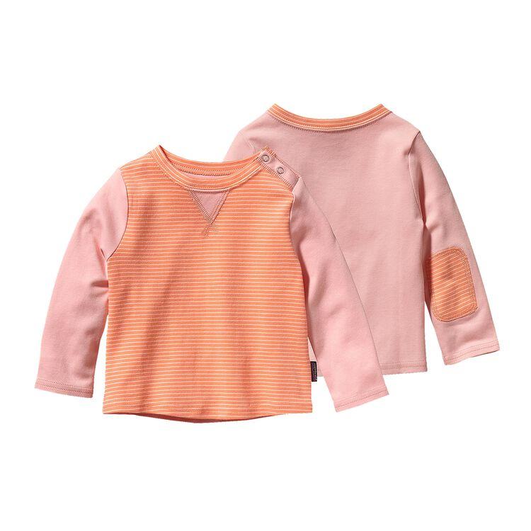 ベビー・コージー・コットン・クルー, Itsy Bitsy Stripe: Peach Sherbet (IBPS)
