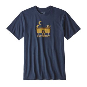 M's Live Simply® Hot Tub Cotton/Poly Responsibili-Tee®, Navy Blue (NVYB)