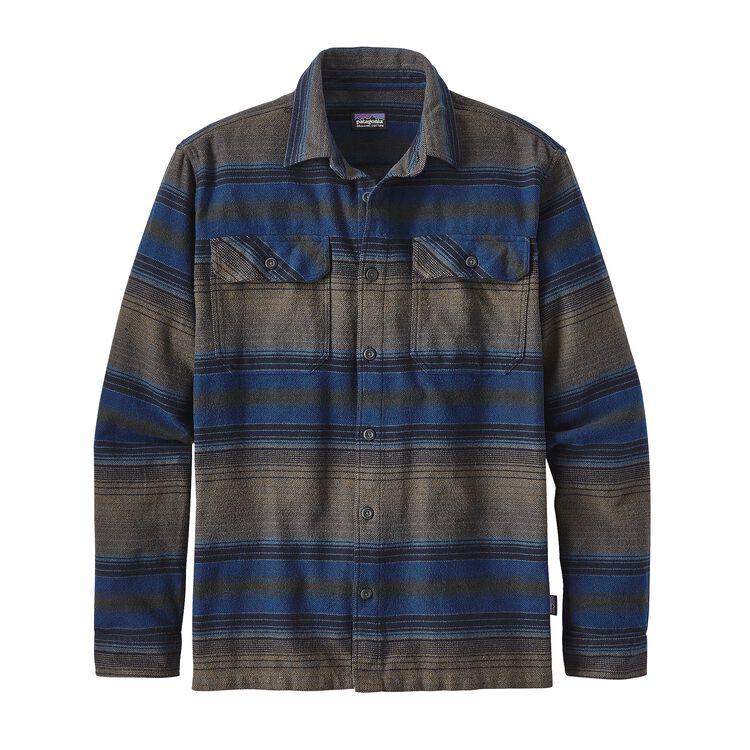 メンズ・ロングスリーブ・フィヨルド・フランネル・シャツ(アジア・フィット), Blanket Stripe: Navy Blue (BNVY)