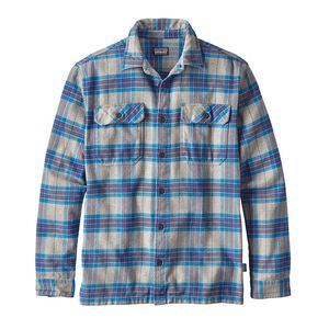 M's Long-Sleeved Fjord Flannel Shirt, Migration Plaid: Andes Blue (MGAB)