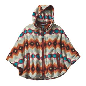 W's Lightweight Synchilla® Poncho, Timber Twist: Cinder Red (TTCR)
