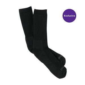 Lightweight Merino Crew Socks, Black (BLK)