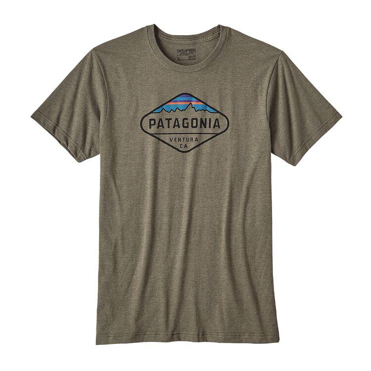 メンズ・フィッツロイ・クレスト・オーガニックコットン/ポリ・Tシャツ, Industrial Green (INDG)