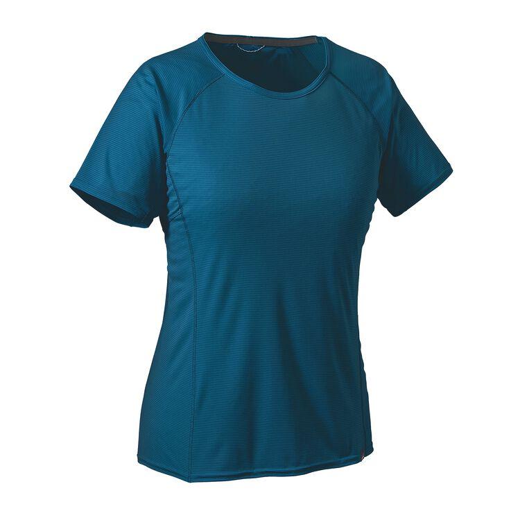 ウィメンズ・キャプリーン・ライトウェイト・Tシャツ, Big Sur Blue (BSRB)