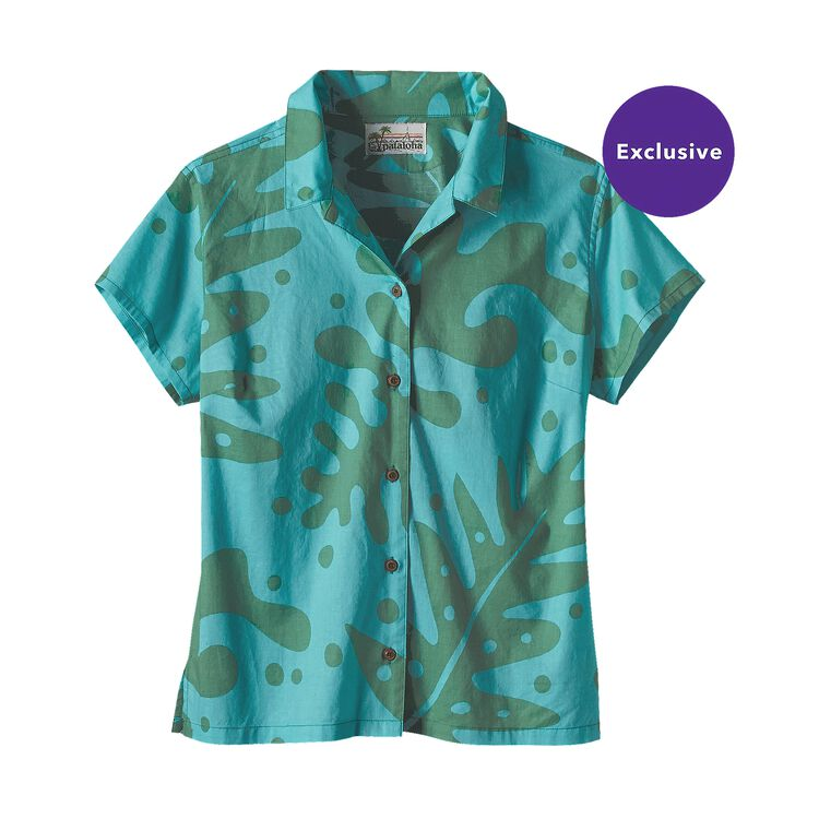 W'S CLASSIC PATALOHA SHIRT, Ferns: Mogul Blue (FMGB)