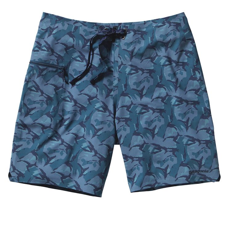 M'S HYDRO PLANING STRETCH BOARD SHORTS -, Painted Camo: Glass Blue (PAGB)