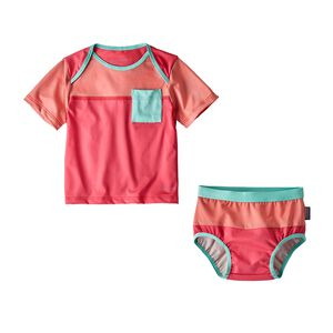 Infant Little Sol Swim Set, Sierra Pink (SRAP)
