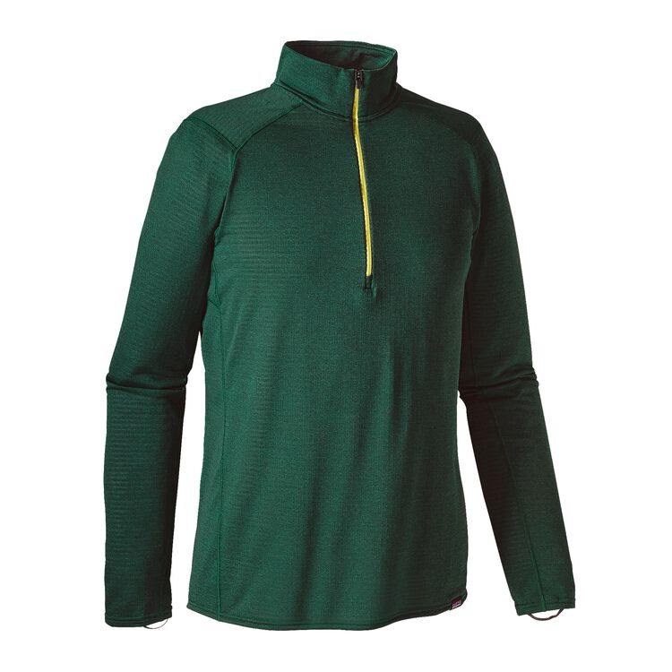 M'S CAP TW ZIP NECK, Carbon - Legend Green X-Dye (CABX)