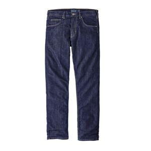 M's Flannel Lined Performance Straight Fit Jeans - Regular, Dark Denim (DDNM)