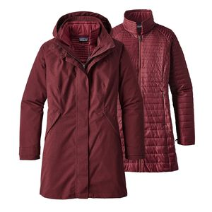 W's Vosque 3-in-1 Parka, Dark Ruby (DAK)