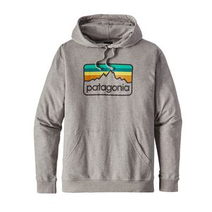 M'S LINE LOGO BADGE LW HOODY, Feather Grey (FEA)